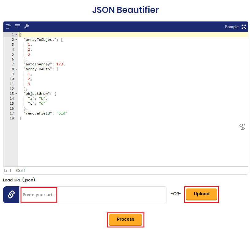 JSON Beautifier - Pretty JSON Tool By SearchEngineReports net
