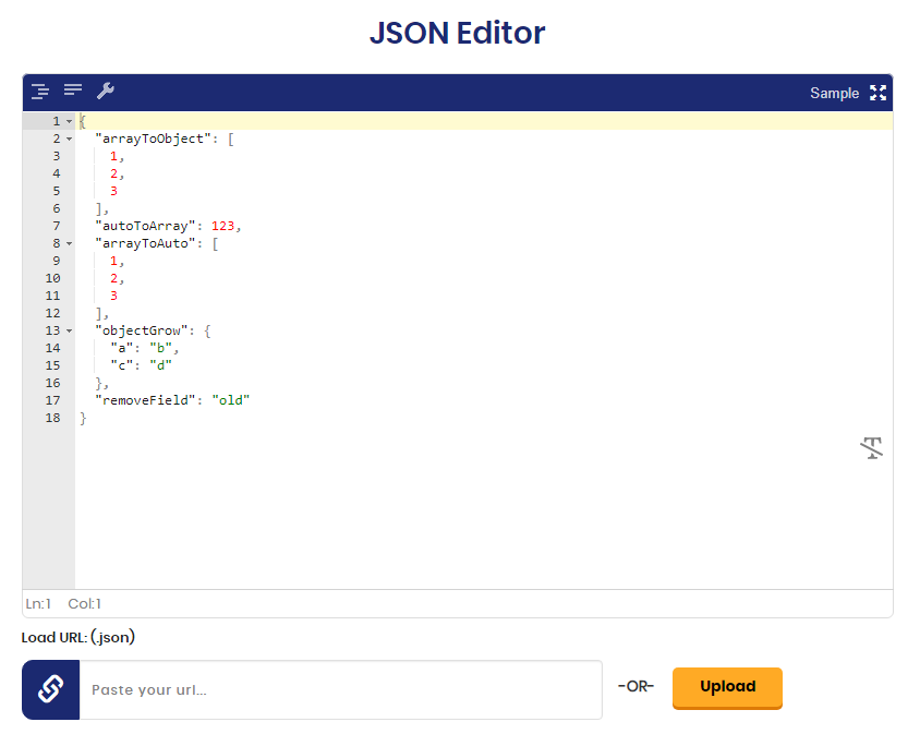 JSON Editor - You Can Online View, Edit & Formate JSON Files