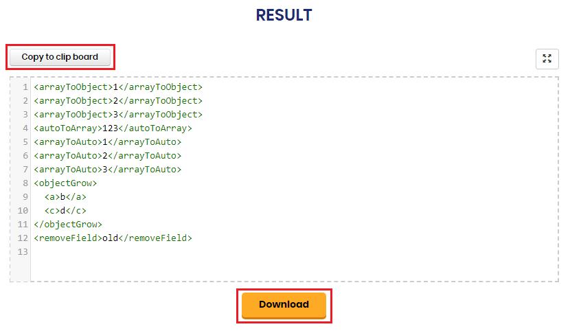 JSON to XML - Best JSON to XML Online Converter By SER