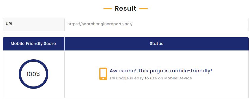 Mobile responsive test