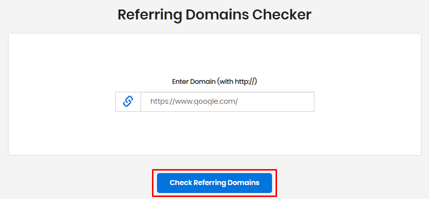Check Referring Domains